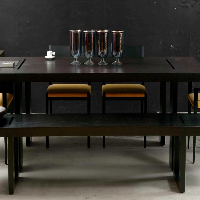 groove dining table